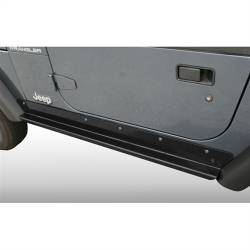 Rocker Armor - Jeep Wrangler TJ / LJ 97-06 - Rugged Ridge - Rocker Guards Heavy-Duty, Rugged Ridge, Jeep Wrangler Unlimited (LJ) 03-06   -11504.16