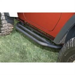 Rocker Armor - Jeep Wrangler JK 07-18 - Rugged Ridge - Side Armor 2-Door Textured Black JK Jeep Wrangler 07-15 Pair  -11504.21