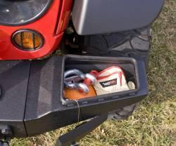 Jeep Wrangler JK 07-18 - Front Bumpers & Stingers - Rugged Ridge - Storage Ends, XHD Front Bumper, Textured Black, Jeep Wrangler (JK) 07-15  -11540.22