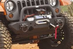 Jeep Wrangler JK 07-18 - Front Bumpers & Stingers - Rugged Ridge - Stubby Ends Textured Black Frontt XHD Jeep Wrangler JK  -11540.23