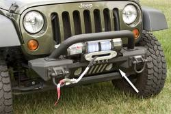 Jeep Wrangler JK 07-18 - Front Bumpers & Stingers - Rugged Ridge - XHD Aluminum Front Bumper, Winch, Rugged Ridge, Jeep Wrangler (JK) 2007-2018 (For use with Aluminum accessories only)