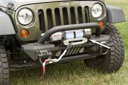 Jeep Wrangler JK 07-18 - Front Bumpers & Stingers - Rugged Ridge - XHD Aluminum Front Bumper Winch Plate, Rugged Ridge, Jeep Wrangler (JK) 2007-2015     -11541.13