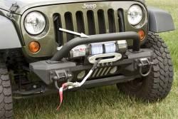 Jeep Wrangler JK 07-18 - Front Bumpers & Stingers - Rugged Ridge - XHD Aluminum Front Bumper Overrider, Rugged Ridge, Jeep Wrangler (JK) 2007-2015  -11541.14