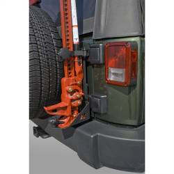 Jeep Wrangler JK 07-Present - Tools - Rugged Ridge - Off Road Jack Mounting Bracket, Hi-Lift Style, Rugged Ridge, Jeep Wrangler (JK) 07-15 -11586.01