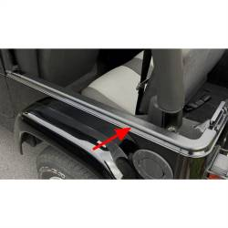 Jeep - Jeep LJ Wrangler 04-06 - Rugged Ridge - Body Tub Rail Armor, Black, Rugged Ridge, Jeep Wrangler Unlimited (LJ) 04-06, Jeep Wrangler (TJ) 97-06 W/ Bestop Supertop, Pair   -11650.41