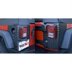 Shop By Brand - OMIX Rugged Ridge - Rugged Ridge - Body Armor Corner Guards, Black, Rugged Ridge, Jeep Wrangler JK 07-15 4-Door, Pair   -11651.01