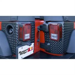 Shop By Brand - OMIX Rugged Ridge - Rugged Ridge - Body Armor Corner Guards, Black, Rugged Ridge, Jeep Wrangler JK 07-15 2-Door, Pair   -11651.02