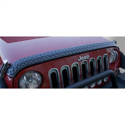 Rugged Ridge - Body Armor Hood Guard, Black, Rugged Ridge, Jeep Wrangler JK 07-15   -11651.17