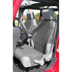 Jeep Seats & Covers - Jeep Wrangler JK Front Seats & Covers - Rugged Ridge - Seat Vest Neoprene Front Pair Gray 07-Up JK Wrangler With Airbag. Will Also Work Without Airbag  -13235.32