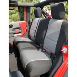 Seat Cover Rear 4-Door Jeep Wrangler JK 07-15 Black / Gray  -13264.09