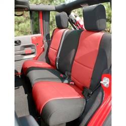 Seat Cover Rear 2-Door Jeep Wrangler JK 07-15 Black / Red  -13265.53