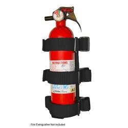 Rugged Ridge - Fire Extinguisher Holder, Black, Fits Sport Bar   -13305.21