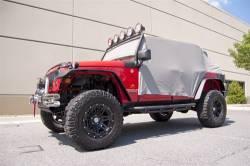 Jeep Tops & Hardware - Jeep Wrangler JK 2 Door 07+ - Rugged Ridge - Water Resistant Vinyl Cab Cover, Gray Vinyl, Rugged Ridge, Jeep Wrangler JK 07-15 2 Door  -13317.09