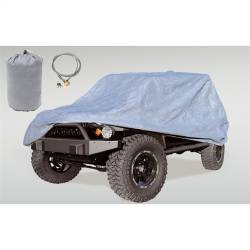 Jeep Tops & Hardware - Jeep Wrangler JK 2 Door 07+ - Rugged Ridge - Car Cover Kit JK Jeep Wrangler 2-Door 07-15 Includes Cover, Bag Cable & Lock   -13321.81