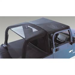 Jeep Tops & Hardware - Jeep Wrangler TJ 97-06 - Rugged Ridge - Mesh Header Roll Bar Top, 97-06 Jeep TJ Wrangler   -13578.01