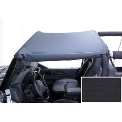 Jeep Tops & Hardware - Jeep Wrangler LJ 03-06 - Rugged Ridge - Header Summer Brief, Black Denim, 97-06 TJ Jeep Wrangler, LJ Unlimited   -13580.15