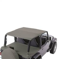 Jeep Tops & Hardware - Jeep Wrangler TJ 97-06 - Rugged Ridge - Header Roll Bar Top, Diamond Khaki, 97-06 TJ Jeep Wrangler  -13581.36