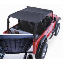 Rugged Ridge - Acoustic Island Topper, 97-06 TJ Wrangler, Black Denim -13582.15