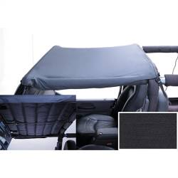 Jeep - Jeep LJ Wrangler 04-06 - Rugged Ridge - Acoustic Brief Header Mount, 97-06 TJ Jeep Wrangler, LJ Unlimited, Denim Black -13583.15