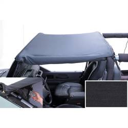 Jeep Tops & Hardware - Jeep Wrangler LJ 03-06 - Rugged Ridge - Pocket Brief, Diamond Black, 97-06 TJ Jeep Wrangler LJ Unlimited (Header Mount)   -13585.35