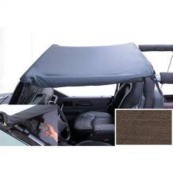 Jeep Tops & Hardware - Jeep Wrangler TJ 97-06 - Rugged Ridge - Pocket Brief, Diamond Khaki, 97-06 TJ Jeep Wrangler LJ Unlimited (Header Mount)  -13585.36