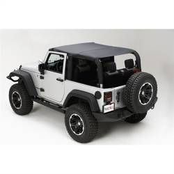 Jeep Tops & Hardware - Jeep Wrangler JK 2 Door 07+ - Rugged Ridge - Island Topper Soft Top, Black Diamond, Rugged Ridge JK Wrangler 07-09 2-Door   -13588.35