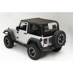 Jeep Tops & Hardware - Jeep Wrangler JK 2 Door 07+ - Rugged Ridge - Island Topper Soft Top, Khaki Diamond, Rugged Ridge, JK Wrangler 07-09 2-Door   -13588.36