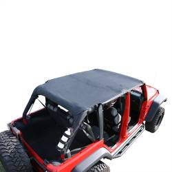 Jeep Tops & Hardware - Jeep Wrangler JK 4 Door 07+ - Rugged Ridge - Island Topper Soft Top, Black Diamond, Rugged Ridge JK Wrangler 4-Door 07-09   -13589.35
