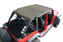 Jeep Tops & Hardware - Jeep Wrangler JK 4 Door 07+ - Rugged Ridge - Island Topper Soft Top, Khaki Diamond, Rugged Ridge, JK Wrangler 07-09 4-Door   -13589.36