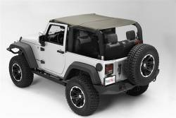Jeep Tops & Hardware - Jeep Wrangler JK 2 Door 07+ - Rugged Ridge - Island Top Khaki JK 2Dr Wrangler 10-15   -13591.36