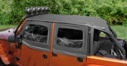 Jeep Tops & Hardware - Jeep Wrangler JK 4 Door 07+ - Rugged Ridge - Island Top Black Diamond JK 4Dr Wrangler 10-15   -13592.35