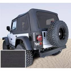 Soft Top, Rugged Ridge, Factory Replacement With Door Skins, Tinted Windows, 97-02 TJ Wrangler, Black Den  -13704.15