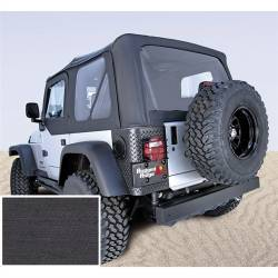 Jeep Tops & Hardware - Jeep Wrangler TJ 97-06 - Rugged Ridge - Soft Top, Rugged Ridge, Factory Replacement No Door Skins, 97-02 TJ Wrangler, Den Black   -13705.15
