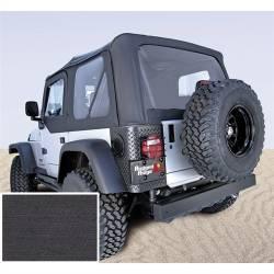 Jeep Tops & Hardware - Jeep Wrangler TJ 97-06 - Rugged Ridge - Soft Top, Rugged Ridge, Factory Replacement No Door Skins, 97-02 TJ Wrangler, Den Black  -13705.15