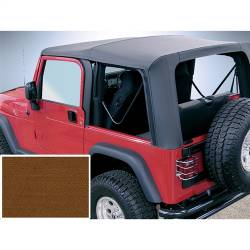 Jeep Tops & Hardware - Jeep Wrangler TJ 97-06 - Rugged Ridge - Soft Top, Rugged Ridge, Factory Replacement No Door Skins, 97-02 TJ Wrangler, Dark Tan    -13705.33