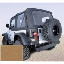 Jeep Tops & Hardware - Jeep Wrangler TJ 97-06 - Rugged Ridge - Soft Top, Rugged Ridge, Factory Replacement No Door Skins, 97-02 TJ Wrangler, Spice  -13705.37