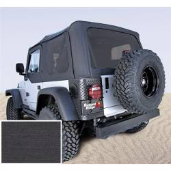Jeep Tops & Hardware - Jeep Wrangler TJ 97-06 - Rugged Ridge - Soft Top, Rugged Ridge, Factory Replacement No Door Skins, Tinted Windows, 97-02 TJ Wrangler, Black Den   -13706.15