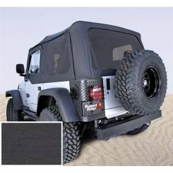 Jeep Tops & Hardware - Jeep Wrangler TJ 97-06 - Rugged Ridge - Soft Top, Rugged Ridge, Factory Replacement No Door Skins, Tinted Windows, 97-02 TJ Wrangler, Black Den  -13706.15