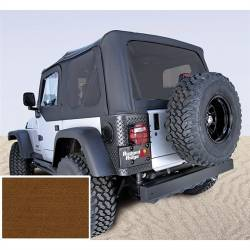 Jeep Tops & Hardware - Jeep Wrangler TJ 97-06 - Rugged Ridge - Soft Top, Rugged Ridge, Factory Replacement No Door Skins, Tinted Windows, 97-02 TJ Wrangler, Dark Tan  -13706.33