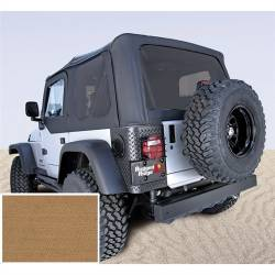 Jeep Tops & Hardware - Jeep Wrangler TJ 97-06 - Rugged Ridge - Soft Top, Rugged Ridge, Factory Replacement No Door Skins, Tinted Windows, 97-02 TJ Wrangler, Spice  -13706.37