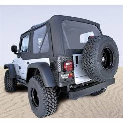 Jeep Tops & Hardware - Jeep Wrangler TJ 97-06 - Rugged Ridge - Soft Top, Rugged Ridge, Factory Replacement With Door Skins, 03-06 TJ Wrangler, Diamond Black   -13707.35
