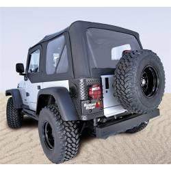 Jeep Tops & Hardware - Jeep Wrangler TJ 97-06 - Rugged Ridge - Soft Top, Rugged Ridge, Factory Replacement With Door Skins, 03-06 TJ Wrangler, Diamond Black  -13707.35