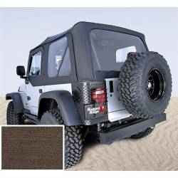 Jeep Tops & Hardware - Jeep Wrangler TJ 97-06 - Rugged Ridge - Soft Top, Rugged Ridge, Factory Replacement With Door Skins, 03-06 TJ Wrangler, Diamond Khaki    -13707.36