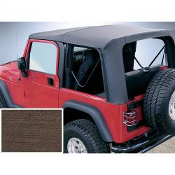 Jeep Tops & Hardware - Jeep Wrangler TJ 97-06 - Rugged Ridge - Soft Top, Rugged Ridge, Factory Replacement No Door Skins, 03-06 TJ Wrangler, Diamond Khaki   -13709.36