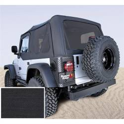 Jeep Tops & Hardware - Jeep Wrangler TJ 97-06 - Rugged Ridge - Soft Top, Rugged Ridge, Factory Replacement No Door Skins, Tinted Windows, 03-06 TJ Wrangler, Diamond Black    -13710.35