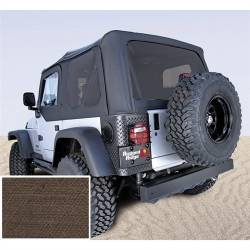 Jeep Tops & Hardware - Jeep Wrangler TJ 97-06 - Rugged Ridge - Soft Top, Rugged Ridge, Factory Replacement No Door Skins, Tinted Windows, 03-06 TJ Wrangler, Diamond Khaki   -13710.36