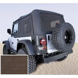 Jeep Tops & Hardware - Jeep Wrangler TJ 97-06 - Rugged Ridge - Soft Top, Rugged Ridge, Factory Replacement No Door Skins, Tinted Windows, 03-06 TJ Wrangler, Diamond Khaki  -13710.36