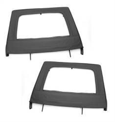 Doors & Tube Doors - Jeep Wrangler JK 07+ - Rugged Ridge - Upper Soft Doors, Rear Pair, Black, Rugged Ridge, Jeep Wrangler JK 2007-2015 13712.15