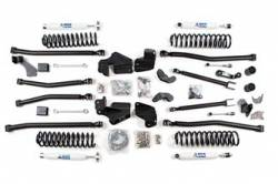 "Wrangler - 2007-2011 JK 4 Door - BDS Suspension - BDS Suspension 4.5"" Long Arm 4-Link Lift Kit for 2007-2016 Jeep Wrangler JK Unlimited 4 door - Rubicon and Standard - 1407H"