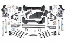 "4WD - 1988-1998 6 Lug - BDS Suspension - BDS Suspension 6"" Lift Kit for 1988-1998 Chevrolet/GMC 4WD K1500 1/2 ton and K2500 6 lug 3/4 ton pickup truck - 193H"